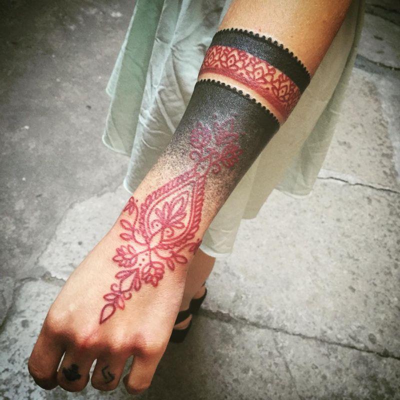 beautiful lace tattoos
