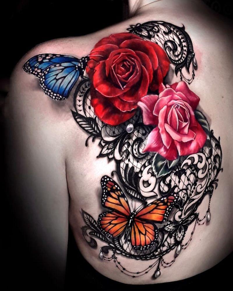 creative lace tattoos