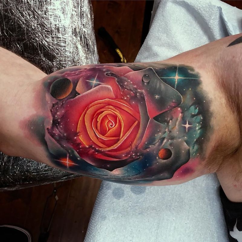 most beautiful rose tattoos