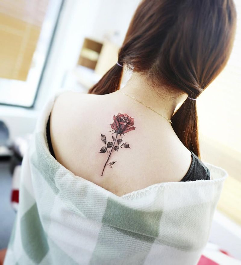 cute rose tattoos