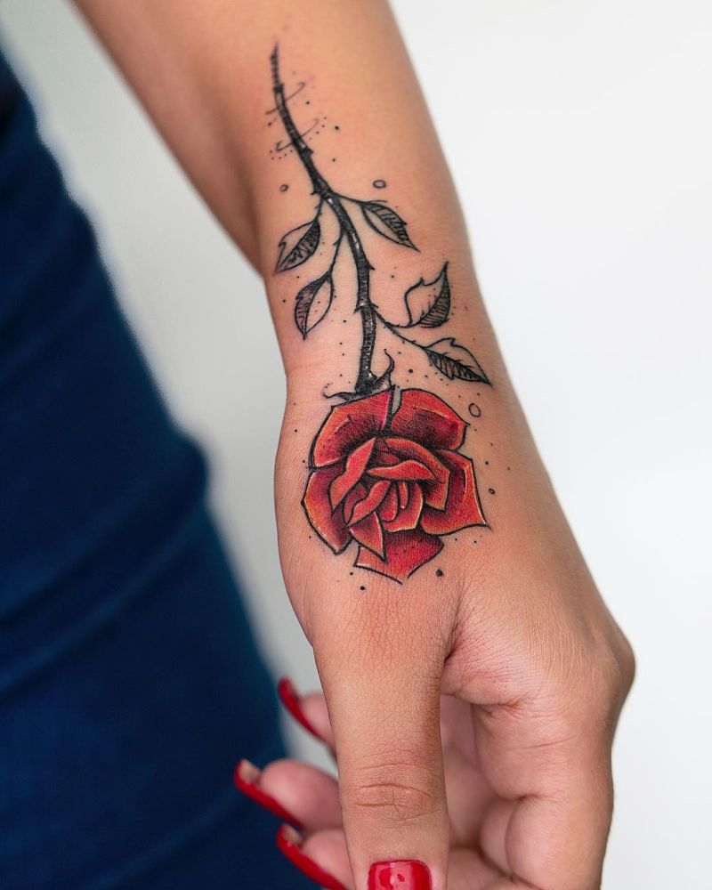 illustrative rose tattoo by Robson Carvalho