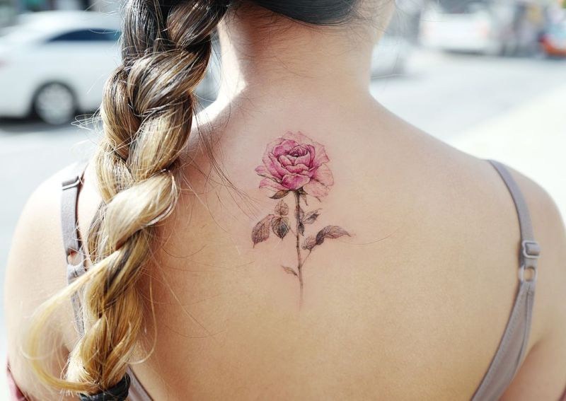 cool rose tattoo designs