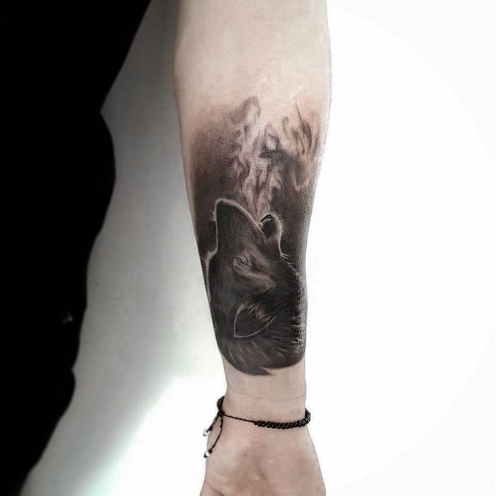 killer wolf tattoo design