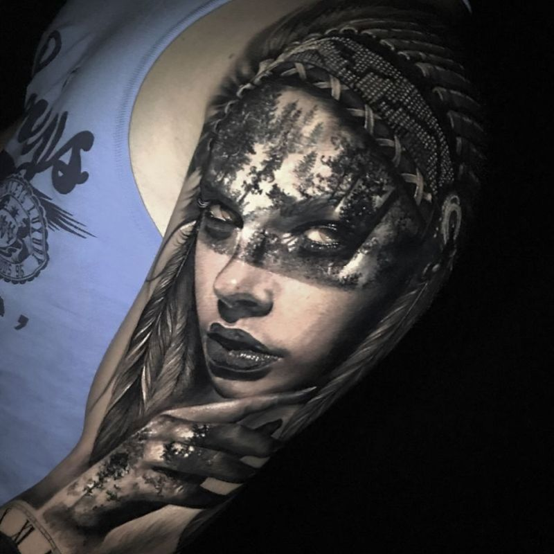 face morph tattoo