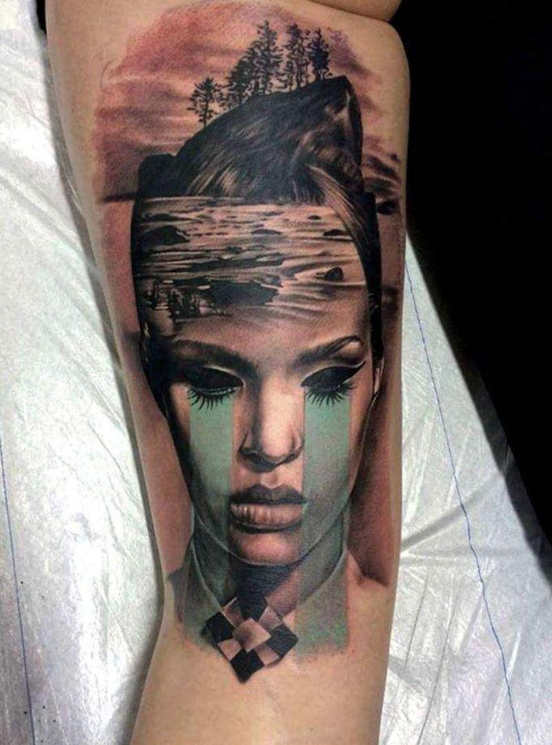 mash-up tattoos