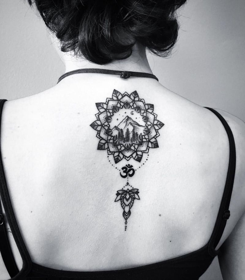 landscape mandala tattoo
