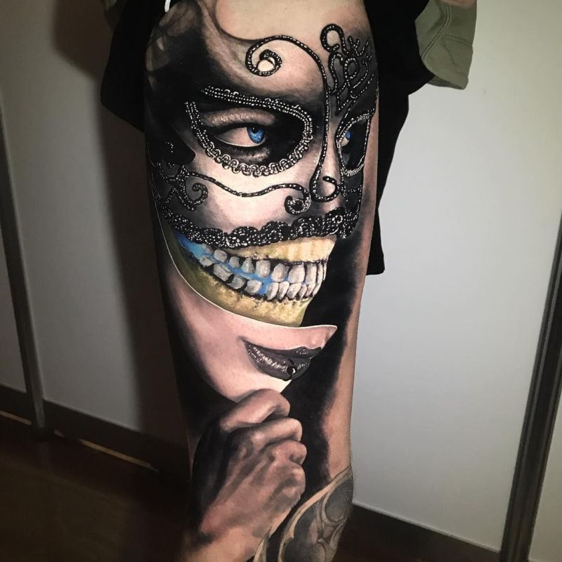 awesome mask tattoos