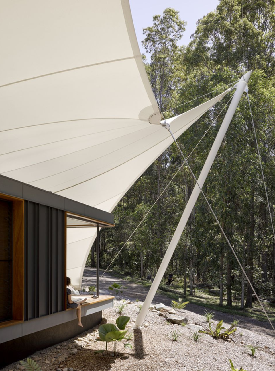 contemporary tent house