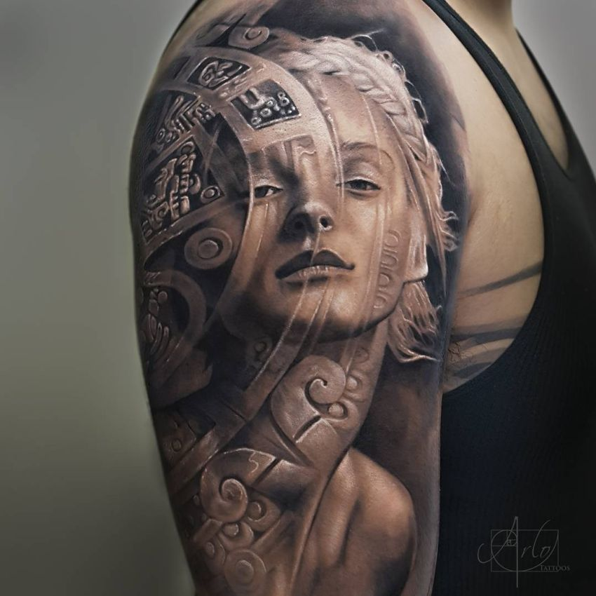 Jaw Dropping Face: Jaw-Dropping Face Morph Tattoos By Arlo DiCristina