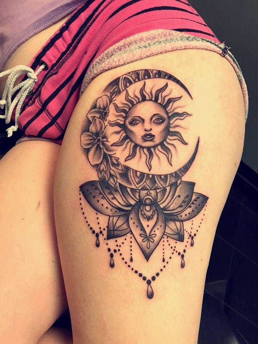 moon and sun tattoo ideas