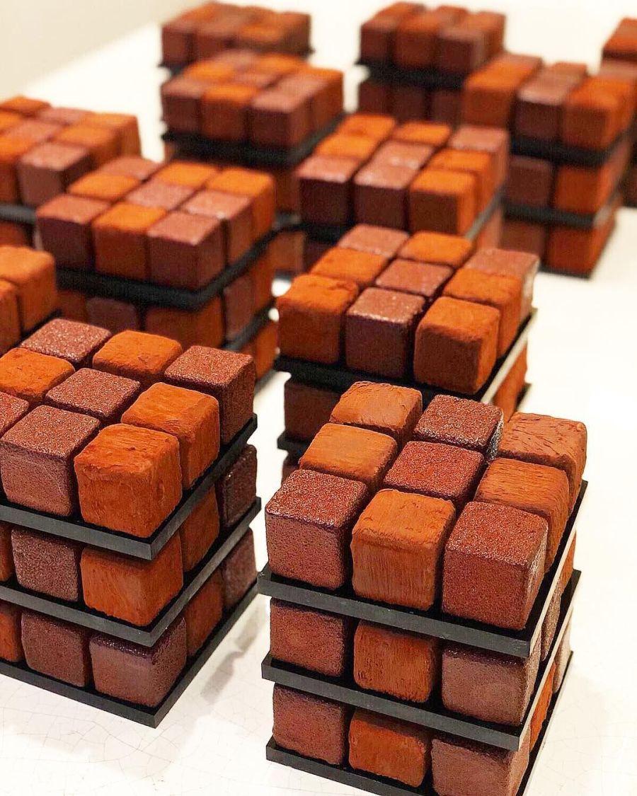 Chocolate Rubik Cube Cake Cedric Grolet
