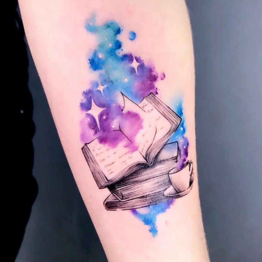 galaxy book tattoo