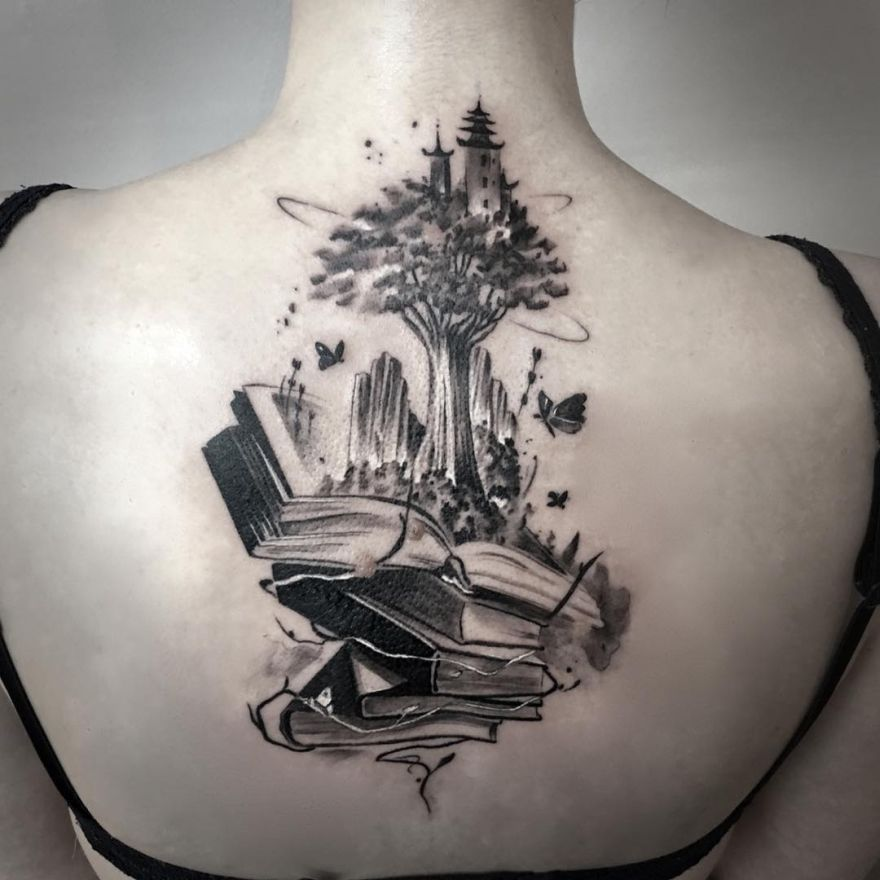 awesome book tattoo ideas