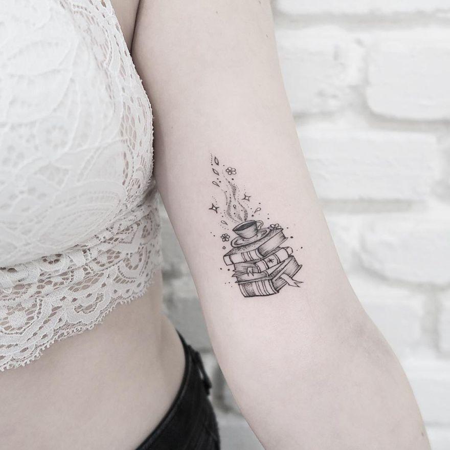 creative book tattoos