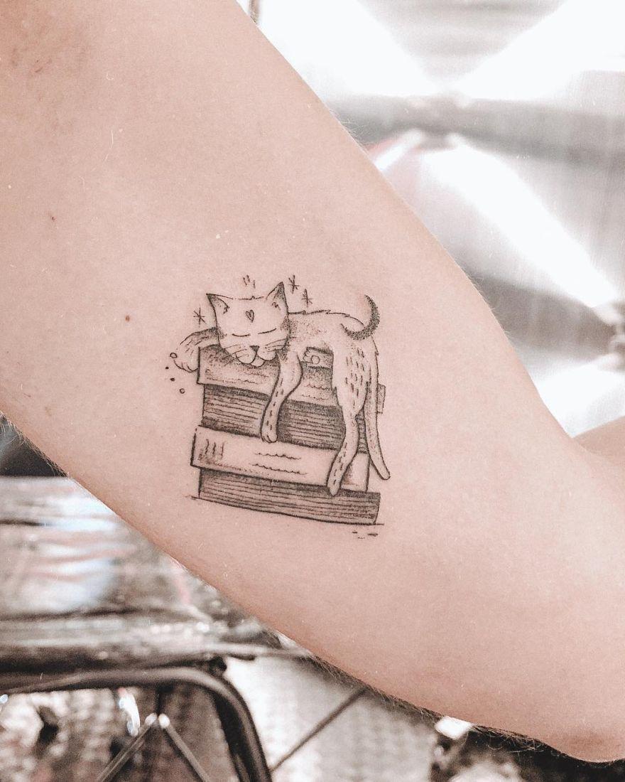 illustrative book tattoos