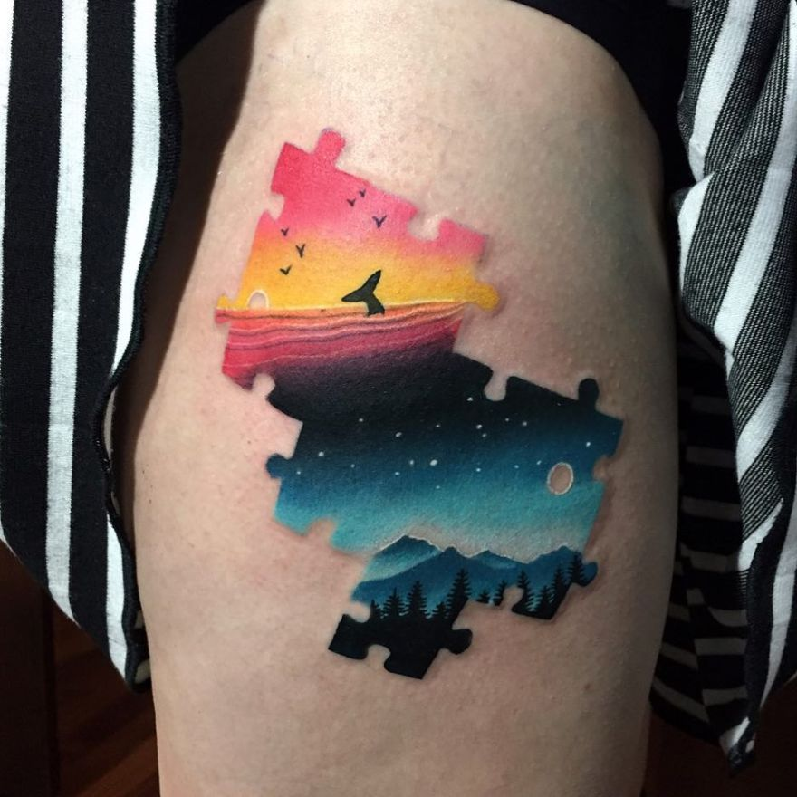 double exposure tattoo ideas