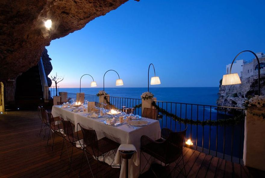 restaurant built inside a cave