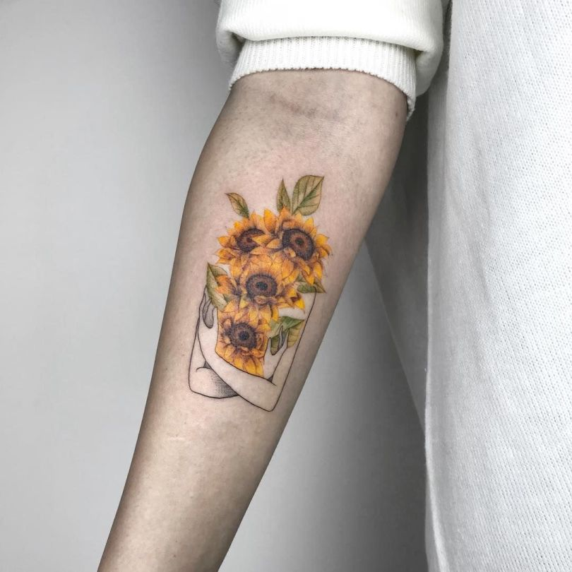 best sunflower tattoo ideas