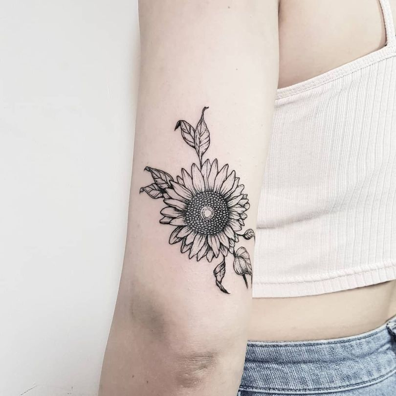 awesome sunflower tattoo ideas