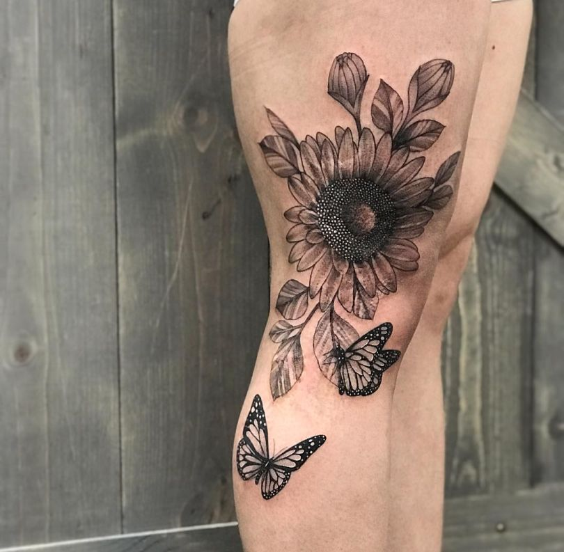 awesome floral tattoos