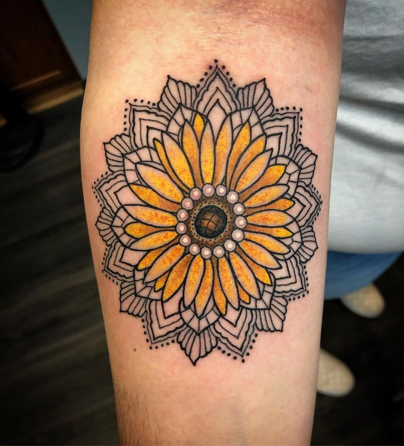 beautiful sunflower tattoos