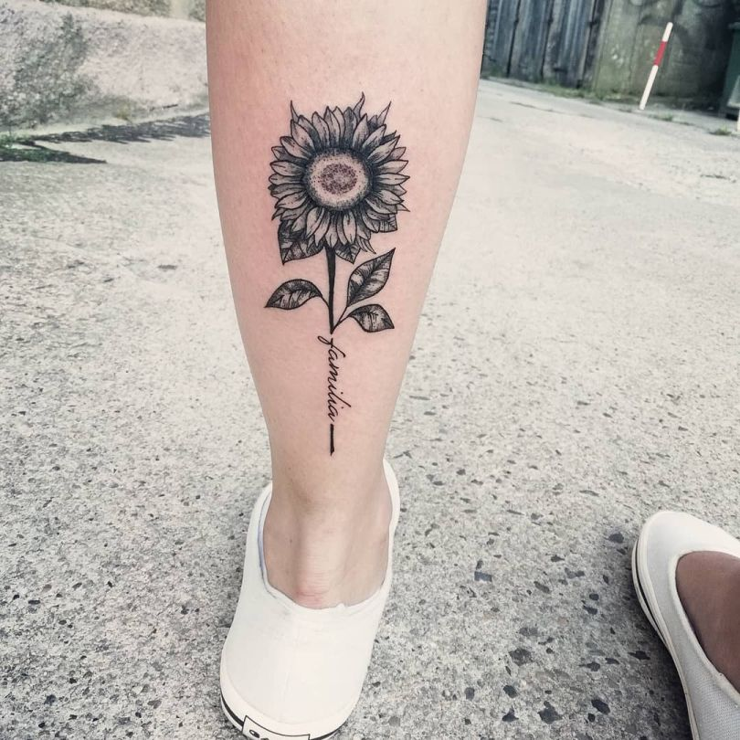 sunflower tattoo ideas