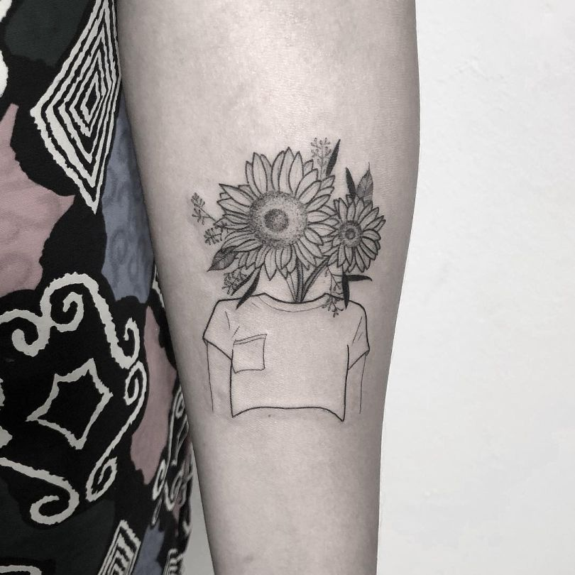 cool floral tattoos