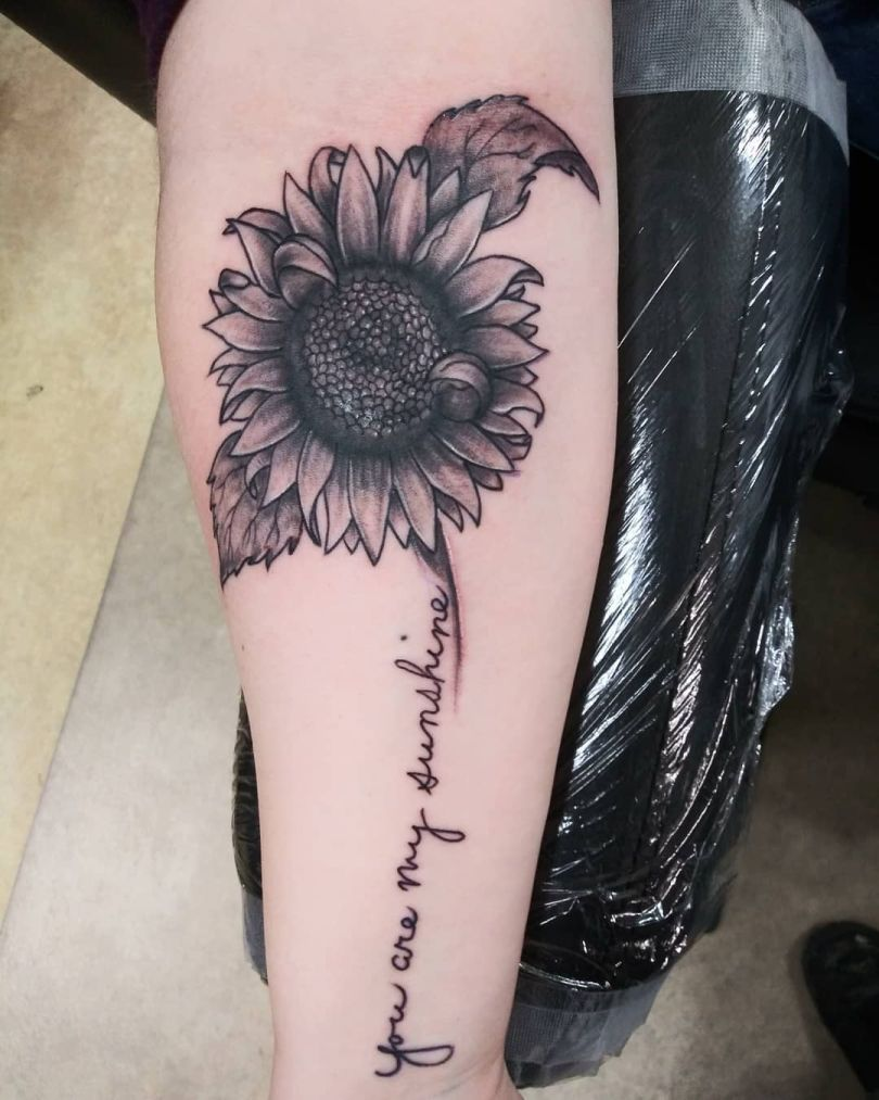 creative sunflower tattoo