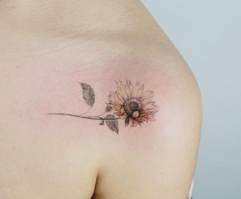 cute sunflower tattoos