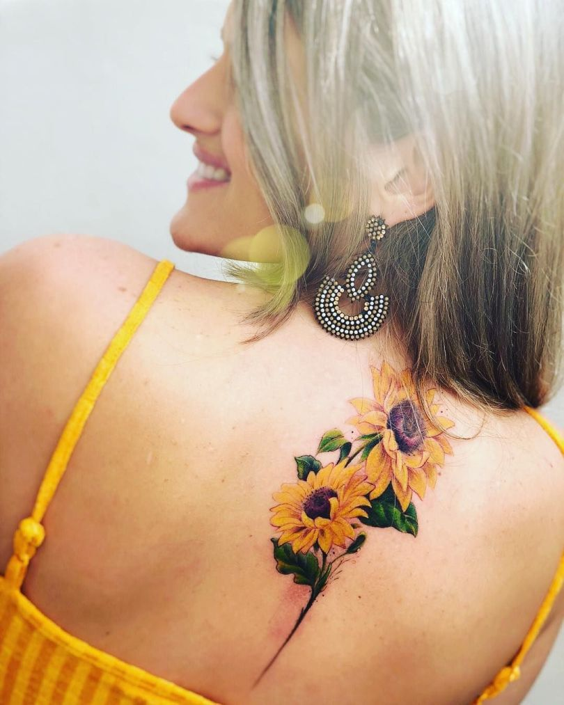 inspirational sunflower tattoo