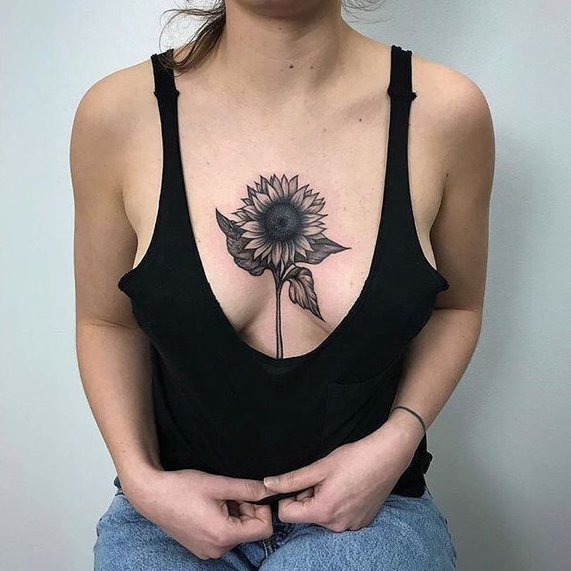 feminine sunflower tattoo