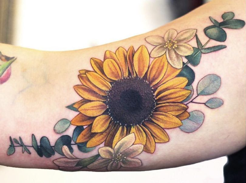 sunflower tattoos for women