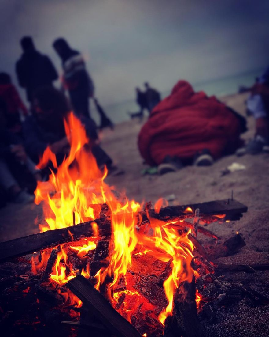 bonefire in Vama Veche