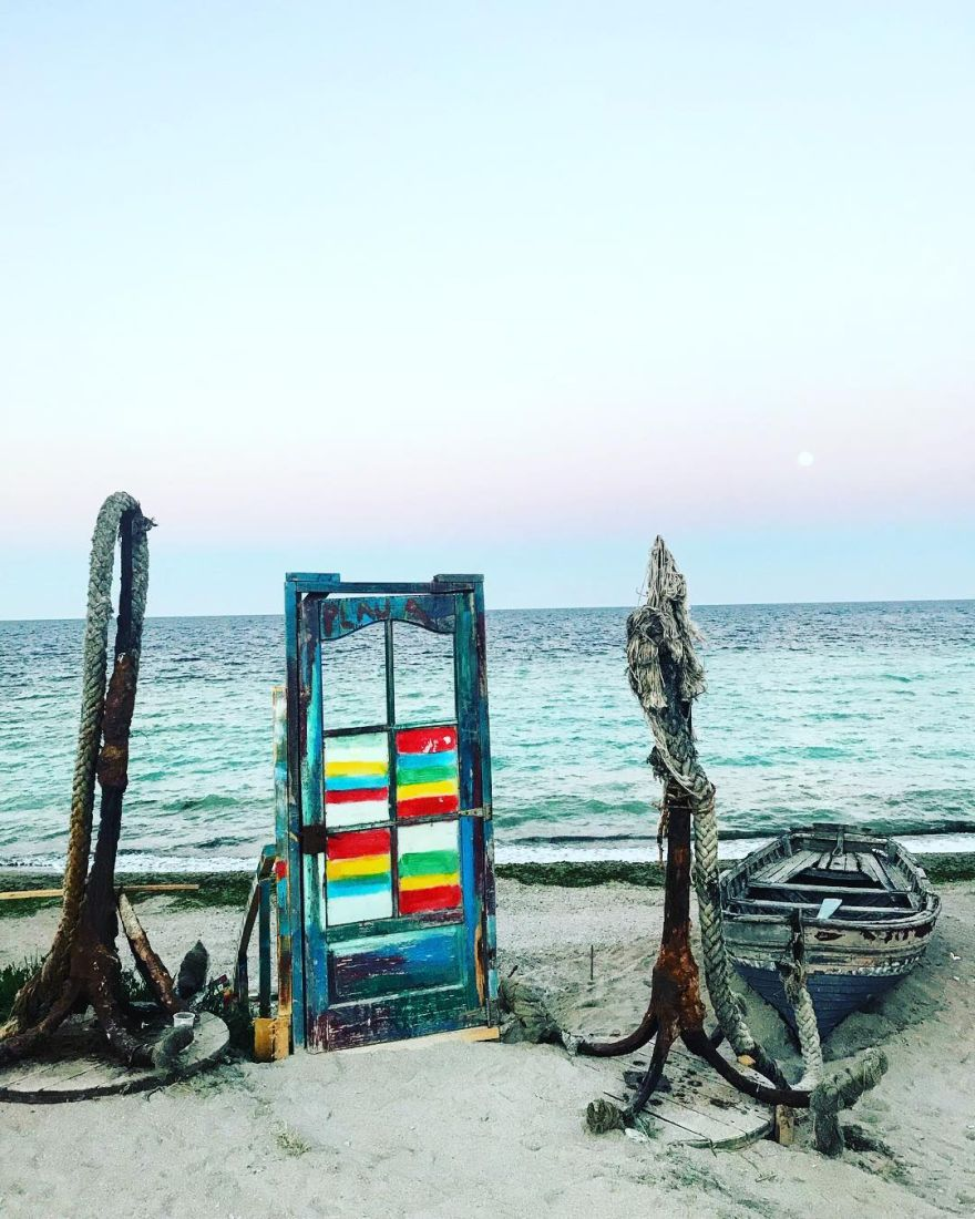 door on the beach