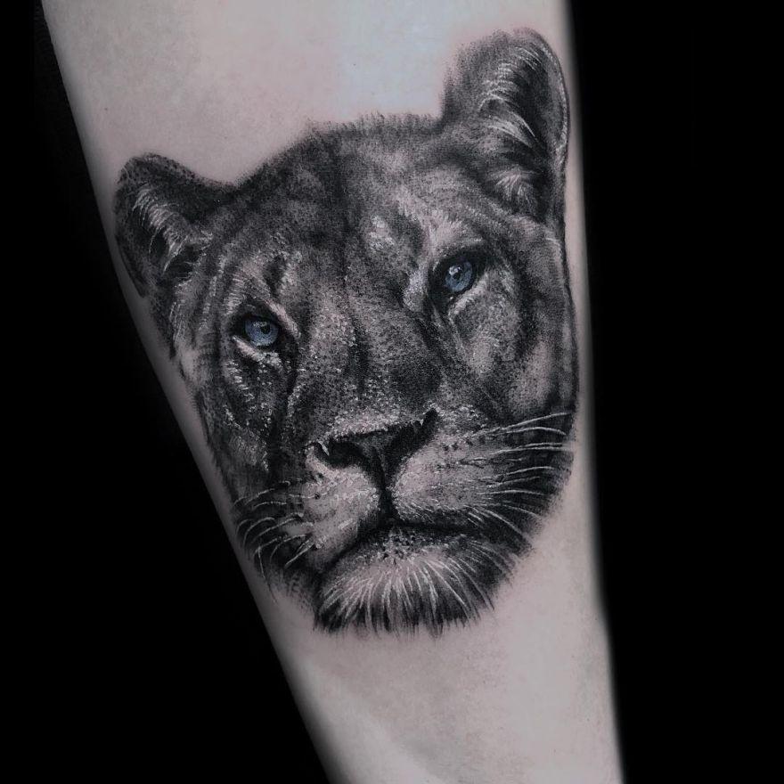 lioness tattoos