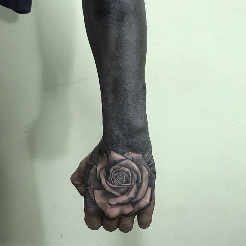 solid black tattoo designs