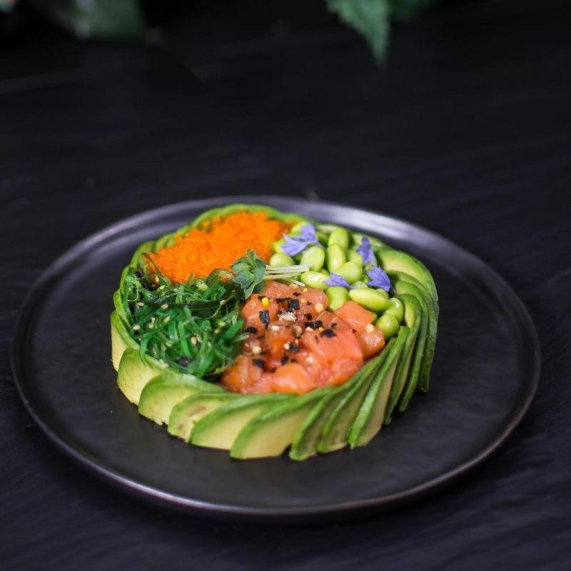 Avocado Salmon Poke Bowl