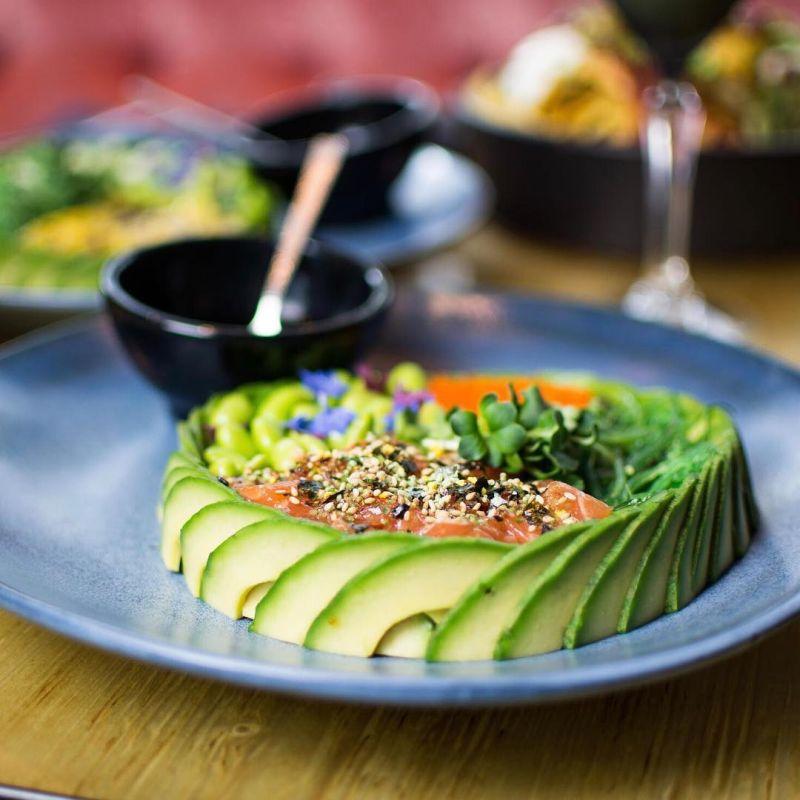 Salmon Avocado Poke Bowl