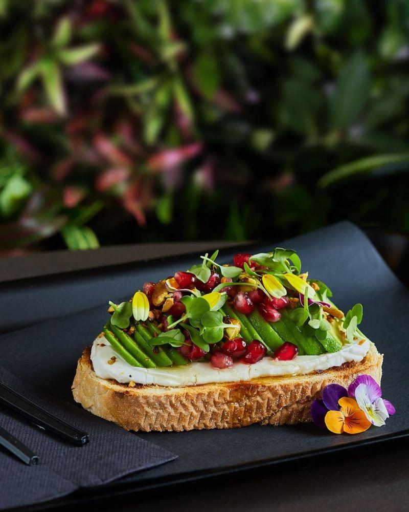 pomegranate avocado toast