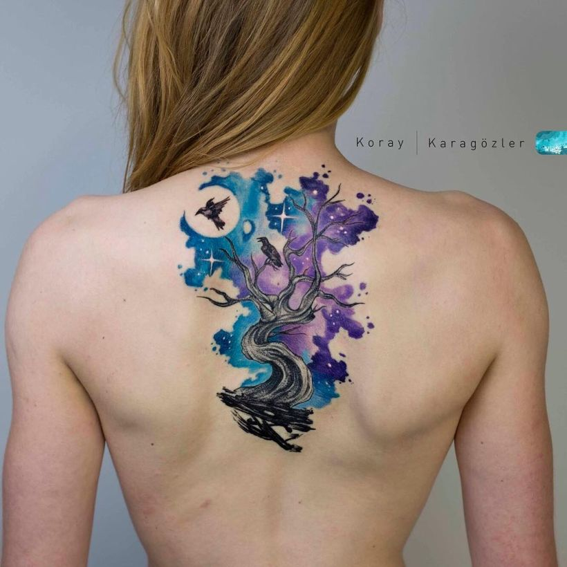 galaxy tattoos Koray Karagözler