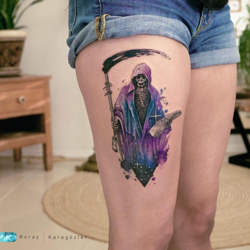 best watercolor tattoos Koray Karagözler
