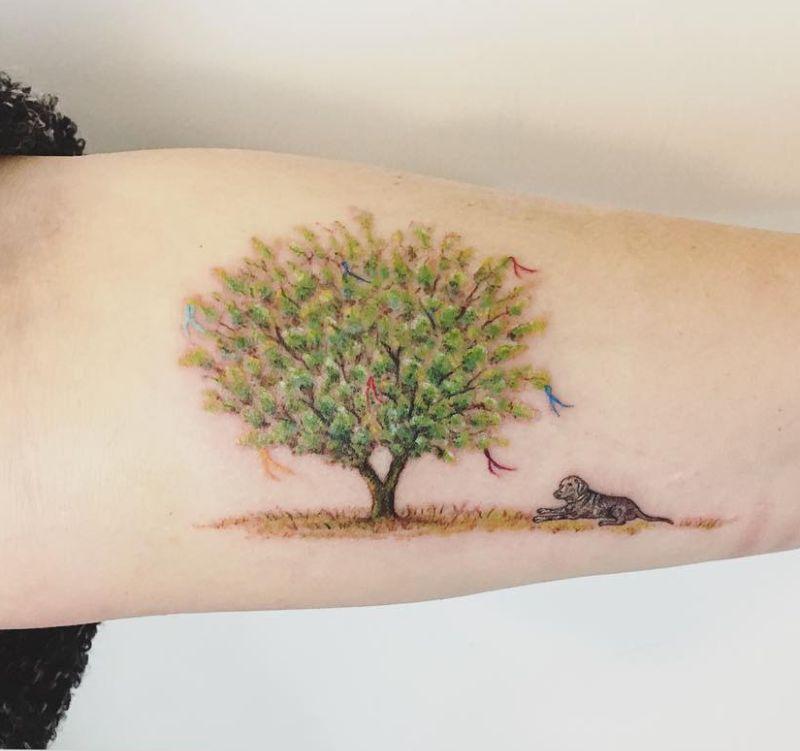 beautiful tree tattoos
