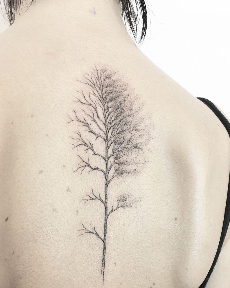 creative tree tattoo