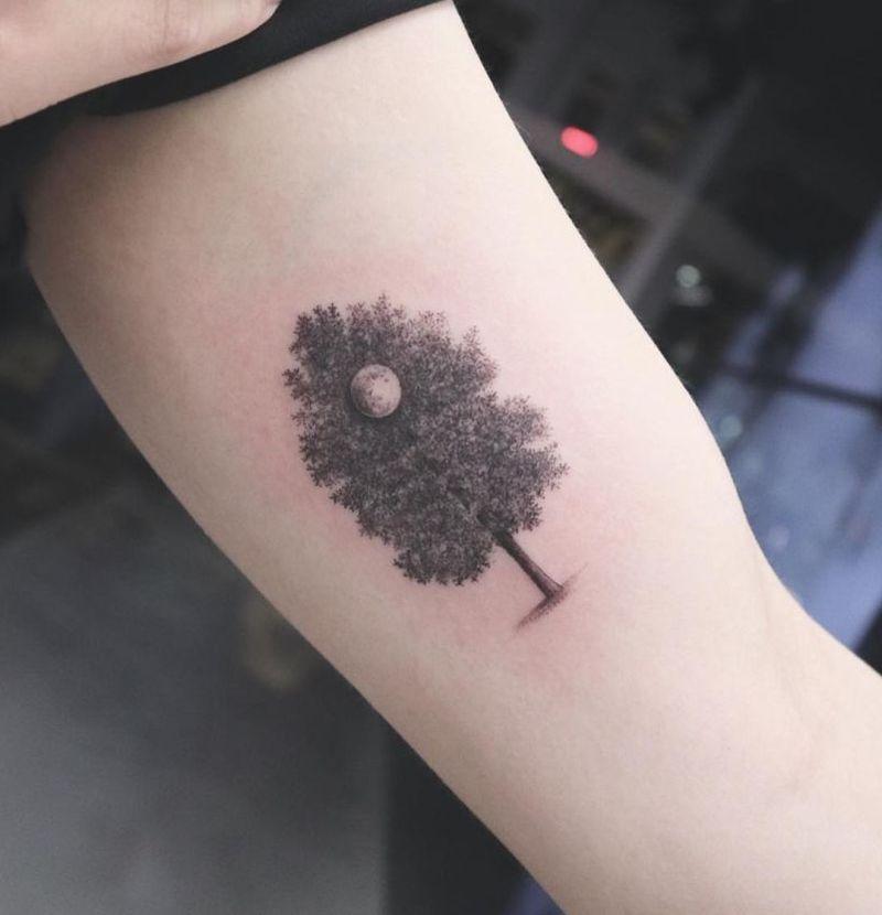 gorgeous tree tattoos