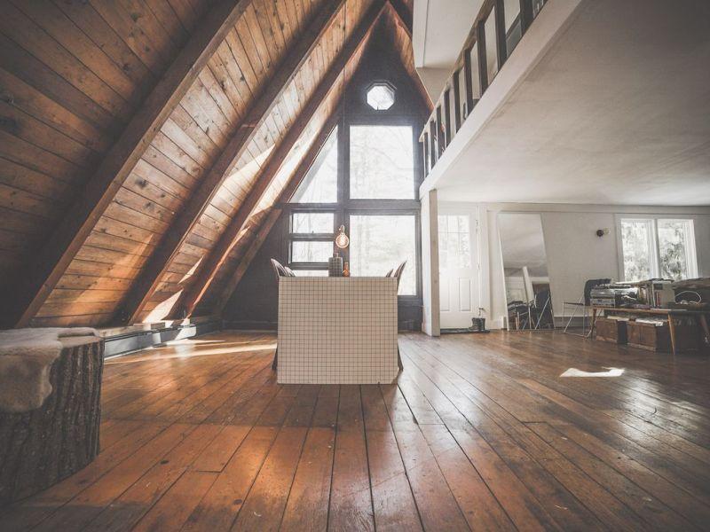 modern A-frame cabin Catskills