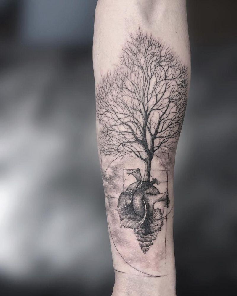 most beautiful tree tattoos