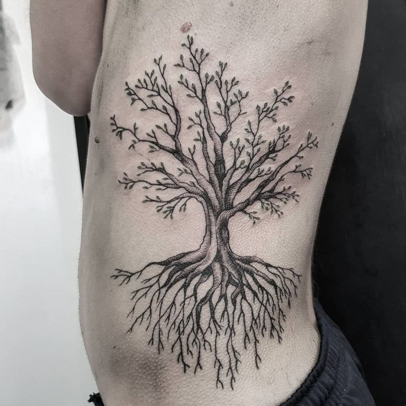 tree tattoo for men