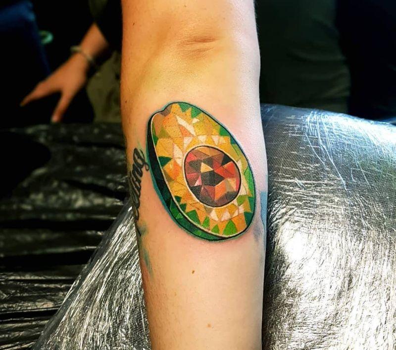 creative avocado tattoos