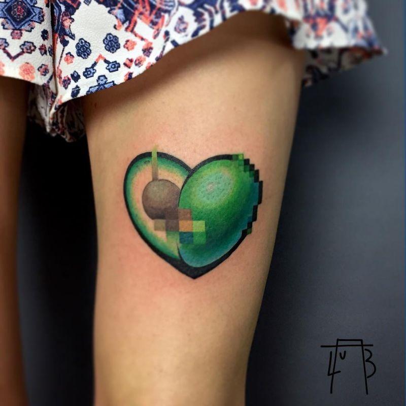 awesome avocado tattoos