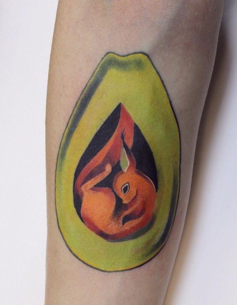avocado tattoo ideas